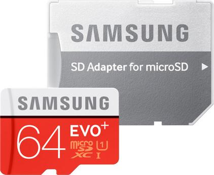 Samsung microSDXC Evo+ 64 GB Class 10 + SD Adapter