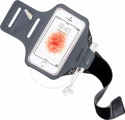 Mobiparts Comfort Fit Sportarmband Apple iPhone 5/5S/SE Grijs