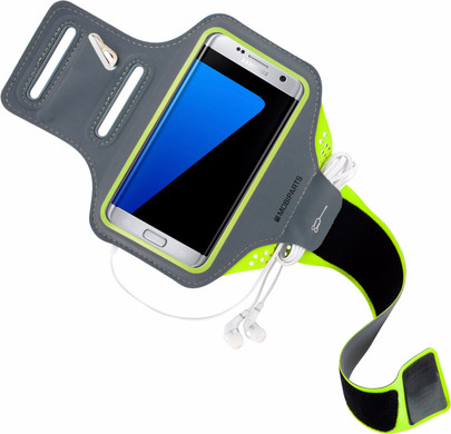 Mobiparts Comfort Fit Sportarmband Samsung Galaxy S7 Edge Groen