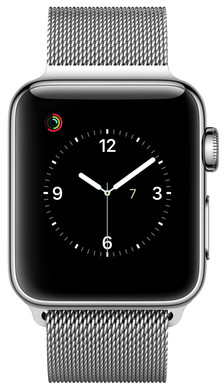Apple Watch Series 2 42mm Roestvrij Staal/Milanese Polsband