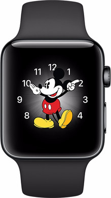 Apple Watch Series 2 38mm Space Zwart Roestvrij Staal/Zwarte Sportband