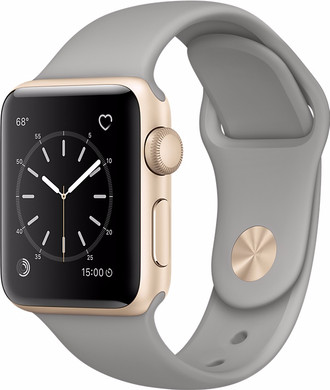Apple Watch Series 1 38mm Goud Aluminium/Betongrijze Sportband