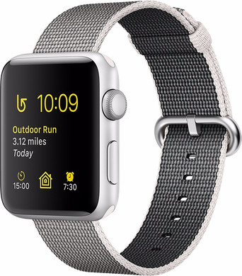 Apple Watch Series 2 42mm Zilver Aluminium/Parelgrijs Nylon