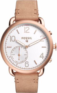 Fossil Q Tailor Hybrid Rosé/Lichtbruin Leer