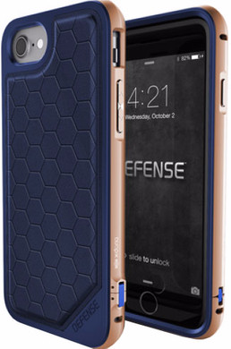 X-Doria Defense Lux Cover Apple iPhone 7/8 Blauw