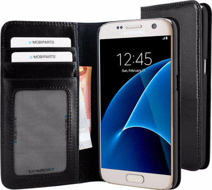 Mobiparts Excellent Wallet Case Samsung Galaxy S7 Zwart