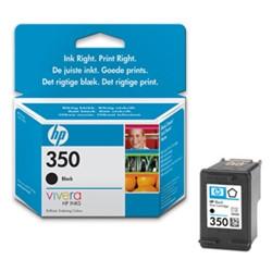 HP 350 Ink Cartridge Black (zwart)