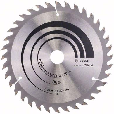 Bosch Cirkelzaagblad Optiline Wood 165x1,7x20 36T