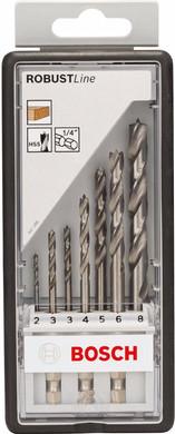 Bosch 7-delige Robust Line Borenset Hout + Gehoorbeschermer