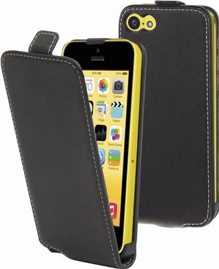 Muvit Folio Apple iPhone 5C Flip Case Zwart