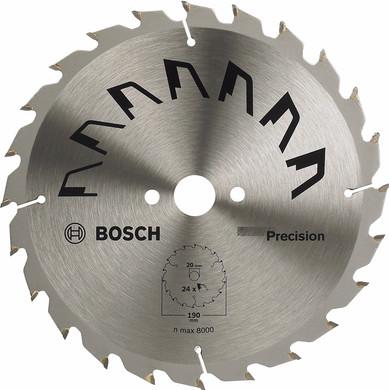 Bosch Cirkelzaagblad Precision 190x20x2mm T24