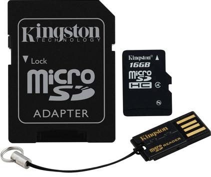 Kingston Micro SDHC 16GB Mobility Kit