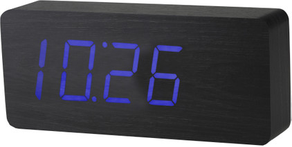 Gingko Slab Click Clock Zwart