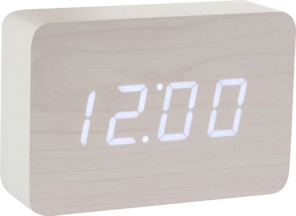 Gingko Brick Click Clock Wit