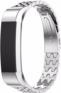 Just in Case Premium Hyve RVS Polsband Fitbit Alta Zilver