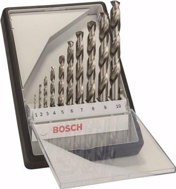 Bosch Robust Line 10-delige HSS-G Metaalborenset