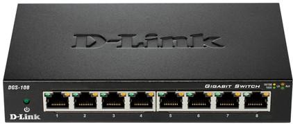 D-Link DGS-108 8-Poorts Gigabit Switch