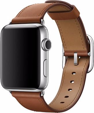 Apple Watch 42mm Klassiek Leren Polsband Bruin