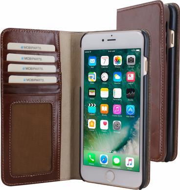 Mobiparts Excellent Wallet Apple iPhone 7 Plus/8 Plus Book Case Bruin