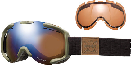 Sinner Galaxy OTG Matte Moss Green + Blue Mirror & Orange Sintec Polarized Lenzen