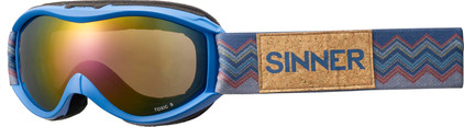Sinner Toxic S Matte Bright Blue + Red Mirror Lens