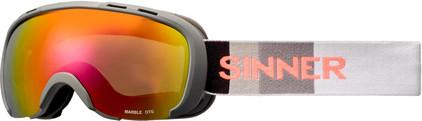 Sinner Marble OTG Matte Grey + Red Mirror Lens