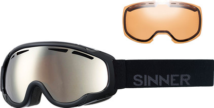 Sinner Fierce Matte Black + Orange Mirror & Double Orange Lenzen