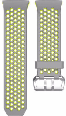 Just in Case Fitbit Ionic Siliconen Horlogeband Grijs/Geel
