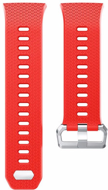 Just in Case Fitbit Ionic Siliconen Horlogeband Rood