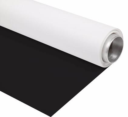 Bresser Vinyl Zwart/Wit Mat 1.45x4m Rol Achtergrond