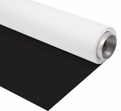Bresser Vinyl Zwart/Wit Mat 2,9x6m Rol Achtergrond