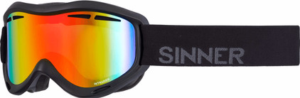Sinner Intruder Matte Black + Red Revo Lens