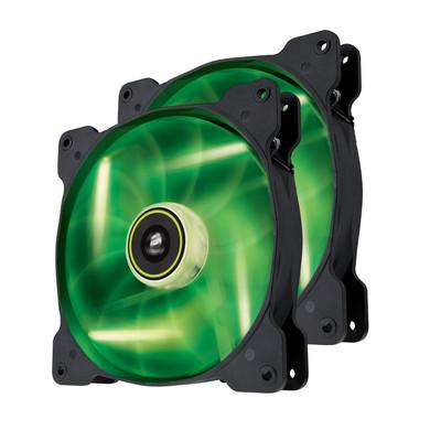Corsair SP140 High Static Pressure Edition Green LED 2 Pack
