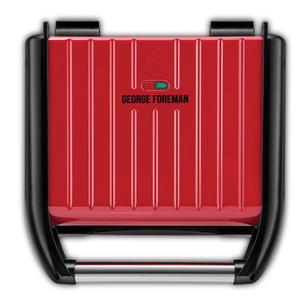 George Foreman Steel Grill Family Red