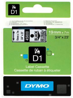 Dymo D1 Naamlabels Zwart-Wit (19 mm x 7 m)