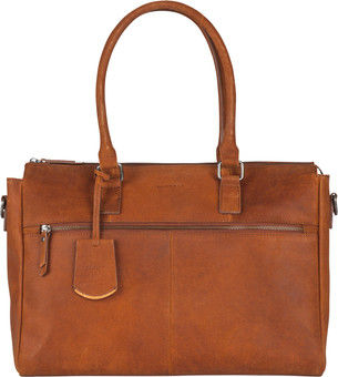 Burkely On The Move Zipper incl. Powerbank - Cognac