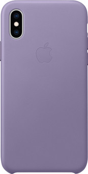 Apple iPhone Xs Leather Case Lila