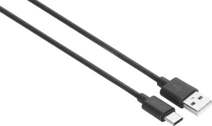 Azuri USB-A to USB-C Cable 1m Plastic Black