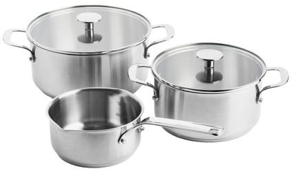 KitchenAid Stainless Steel 3-delige kookpannenset