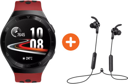 Huawei Watch GT 2E Sport Rood met oordopjes