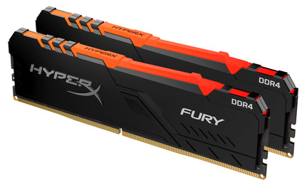 Kingston HyperX 32GB 3200MHz DDR4 CL16 DIMM (Kit of 2) Fury RGB