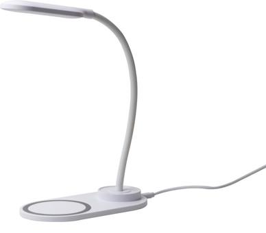 Soundlogic Bureaulamp met draadloze oplaadfunctie (Wit)