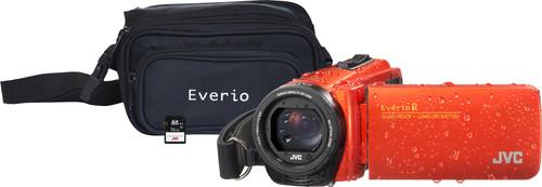 JVC GZ-R495DEU Orange + Carte mémoire + Sacoche Main Image
