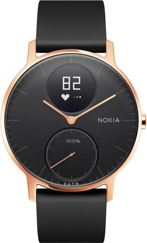 Nokia Steel HR (36mm) Rose Gold Black Silicon Main Image