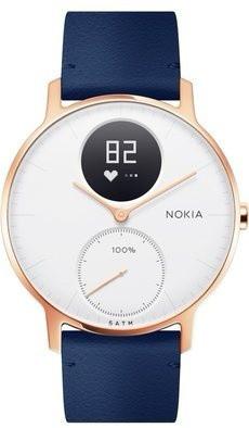 Nokia Steel HR (36mm) Rose Gold Blue Leather Main Image