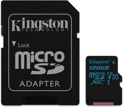 Kingston micro SDXC Canvas Go! 128 Go 90 MB/s + Adaptateur SD Main Image