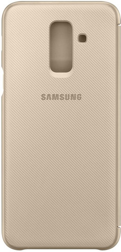 new product 81eba 8d504 Samsung Galaxy A6 Plus (2018) Wallet Cover Book Case Goud