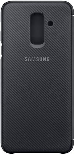 detailed look fc094 f59e9 Samsung Galaxy A6 Plus (2018) Wallet Cover Book Case Zwart