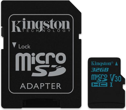 Kingston micro SDHC Canvas Go! 32 Go 90 MB/s + Adaptateur SD Main Image