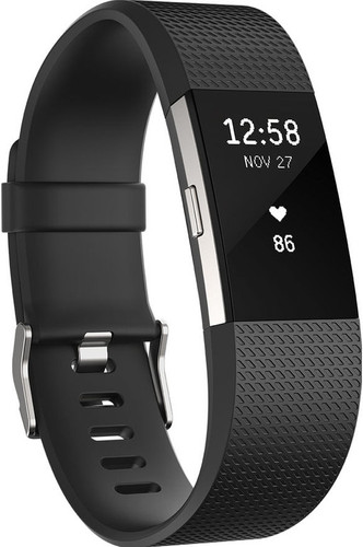 Fitbit Charge 2 Black/Silver - S Main Image